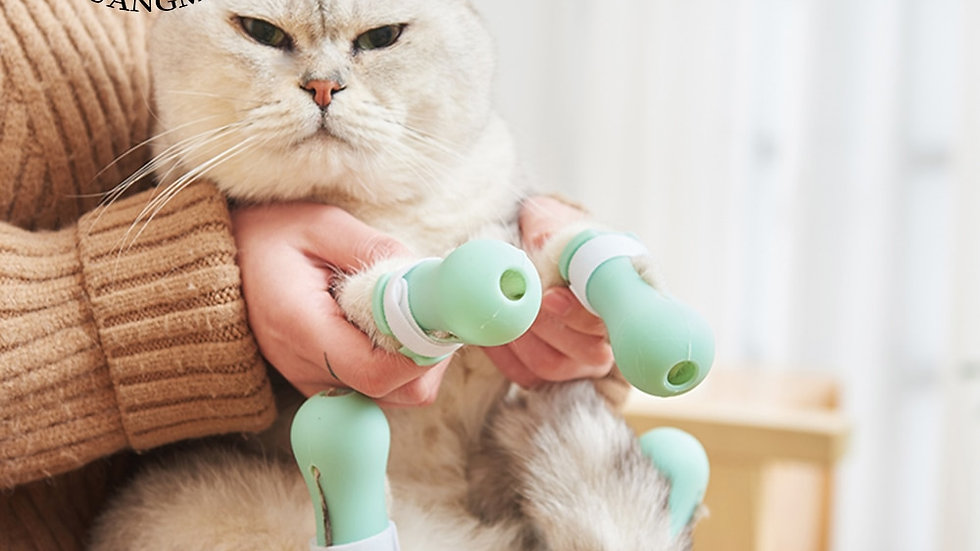 CATPaw Nail Protector Adjustable Bath Silicone Anti-Scratch Accessories Products
