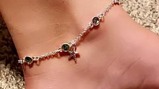 Abalone Starfish Anklet Ankle Bracelet
