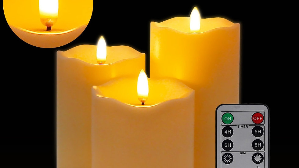 3 PIECE  Battery Powered Led Tea Lights Easter Candle With Packaging