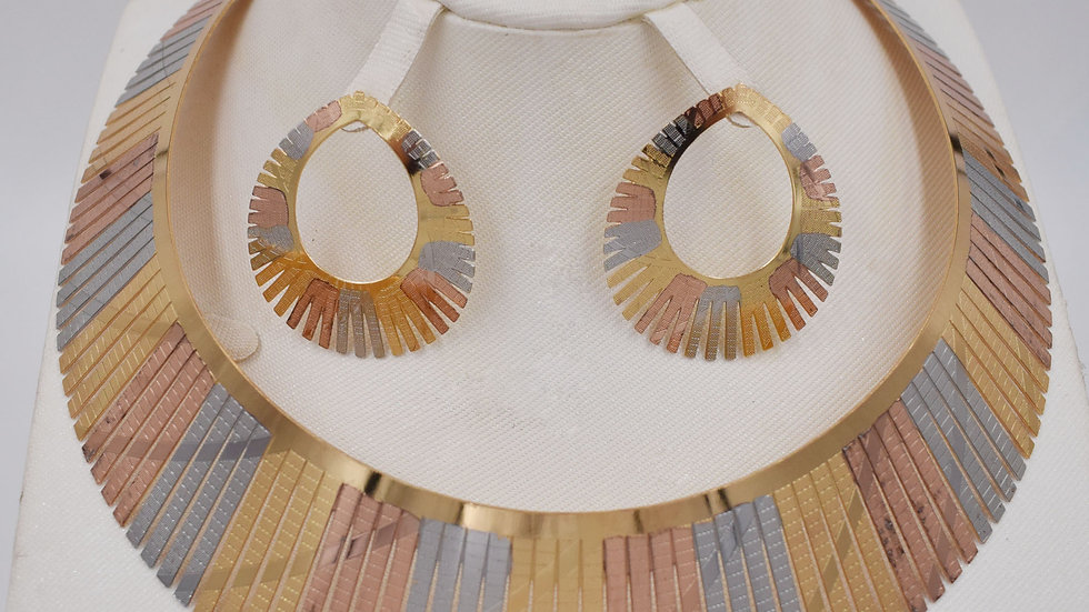 BIGSet for Women African Beads Jewlery Fashion Necklace Set Earring Jewelry