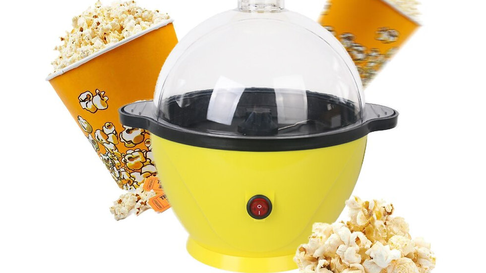 800WPopcornYellow Portable Automatic Popper Pickups for Home Kitchen Accessories