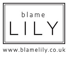 Blame Lily Logo - Vertical with Tight Bo