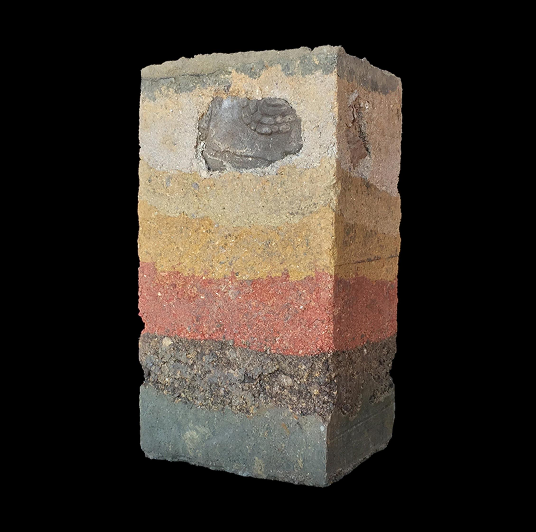 Cozamalotl (arcoiris), Tapial,14X 14 X 29 cm.,  2018