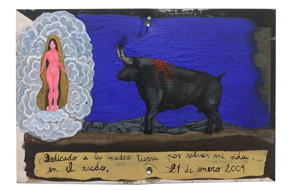 """""""Milagro en el Ruedo"""", 30 X 20 cm.,Técni"""