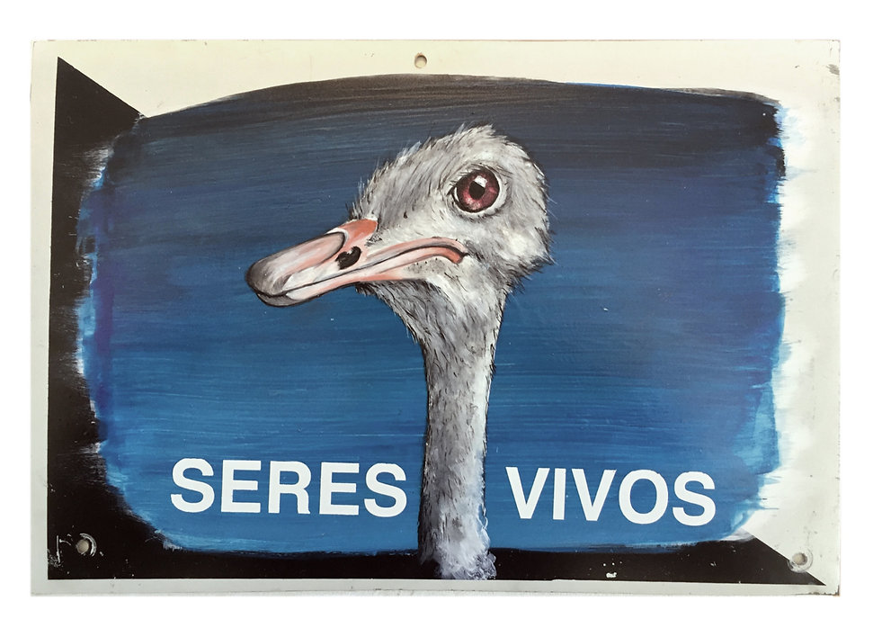 """""""Seres Vivos"""", 30 X 20 cm.,Técnica Mixta sobre lamina de metal., 2020."""