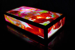 _  acuarela sobre papel montado en estructura  con sistema luminico interior