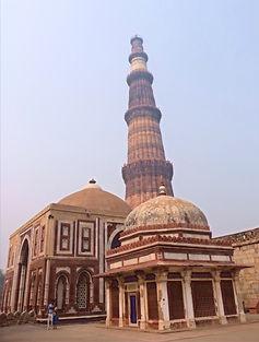 Red Stone Tower of Qutub Minar Delhi