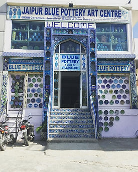 Blue Pottery Shop in Jaipur