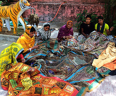 Embroidery workers in Sanganer