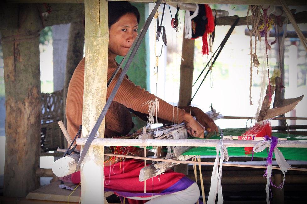 Weaving in Assam Village