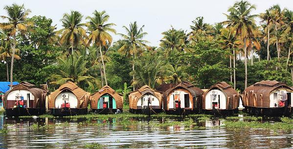 Kettuvallam - rice boats on Kerala backwaters