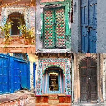 Array of old doors in Old delhi