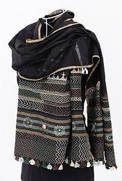 Black Lambani Embroidery Stole