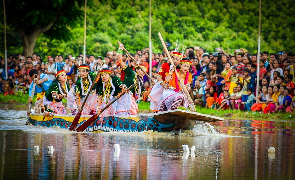 Lively boat races take place in the Bijoy Govinda Canal are a spectacle to behold.