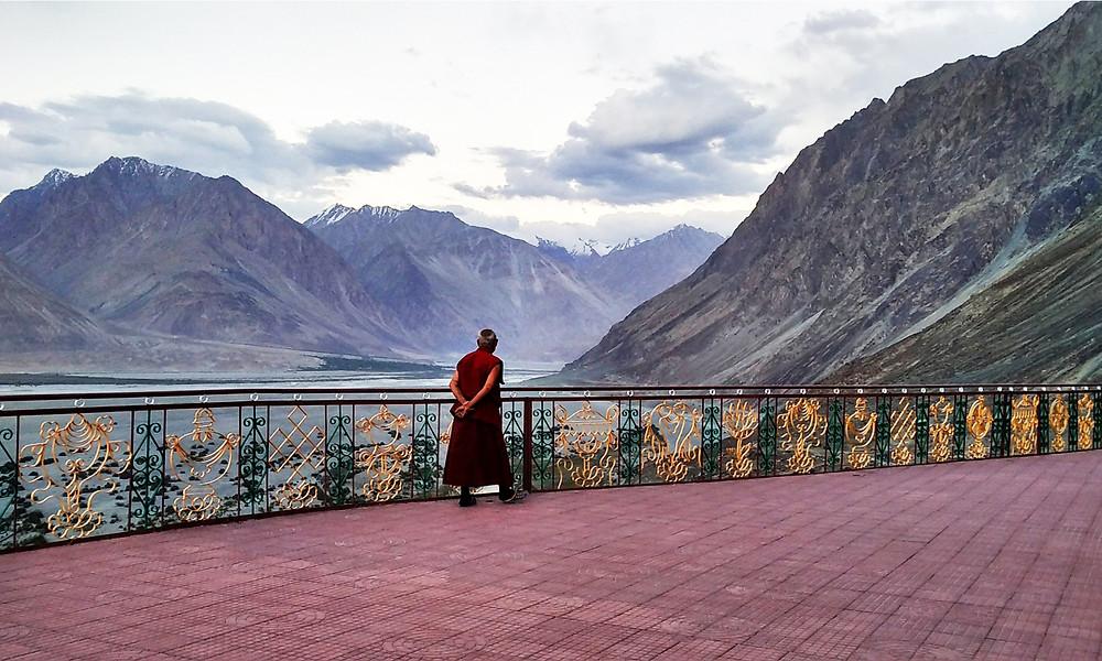 Tibetan Monk in the Himalaya