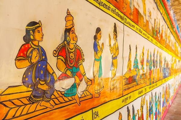 Temple in Kumbakonam Wall Painting