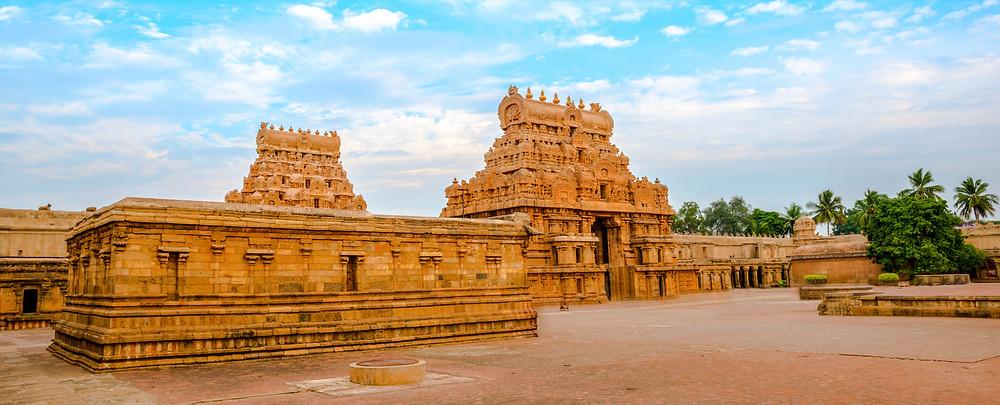 The Dravidian architecture of the Brihadishvara Temple