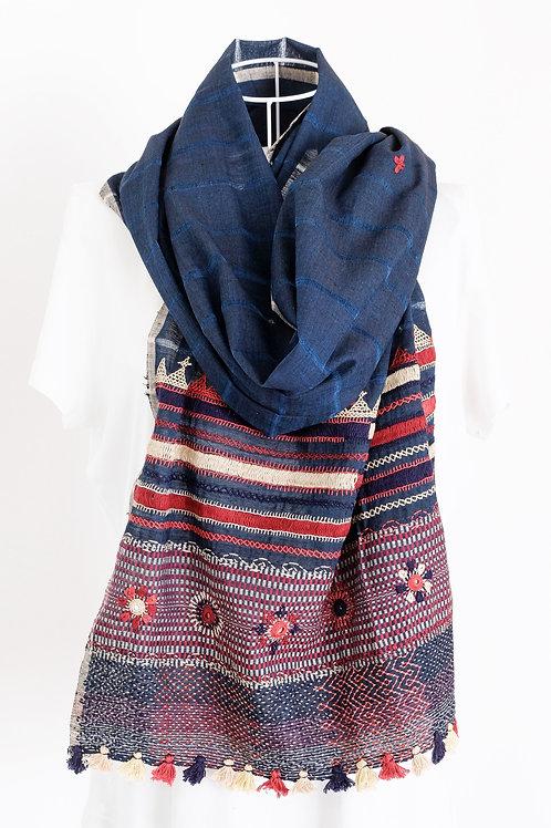 Blue Lambani Embroidery Stole