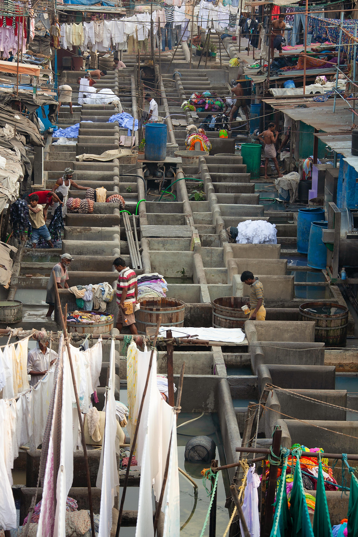 Dhobi Ghats, Mumbai view from the Mahalaxmi Station bridge