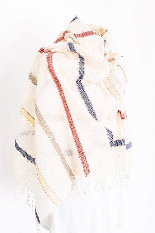 Candy Striped Cotton Shawl