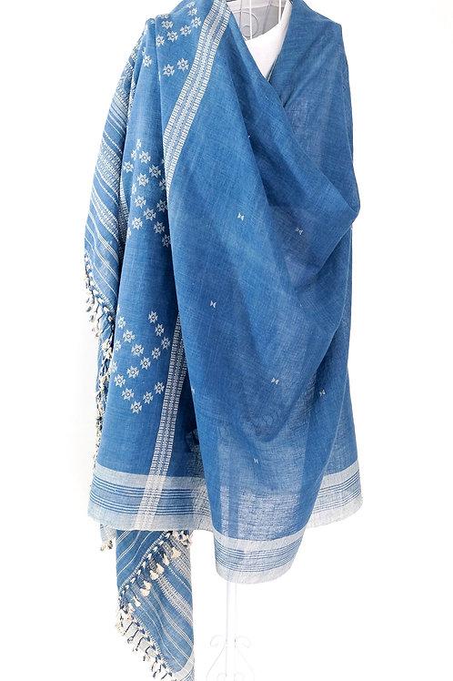 Blue Kala Cotton Shawl