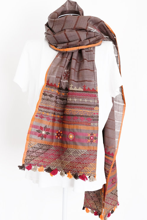 Natural Lambani Embroidery Stole