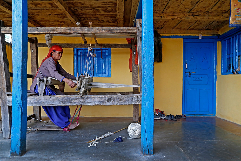 Kullu Shawl Weaving Process. Image by Dastkari Haat Samiti