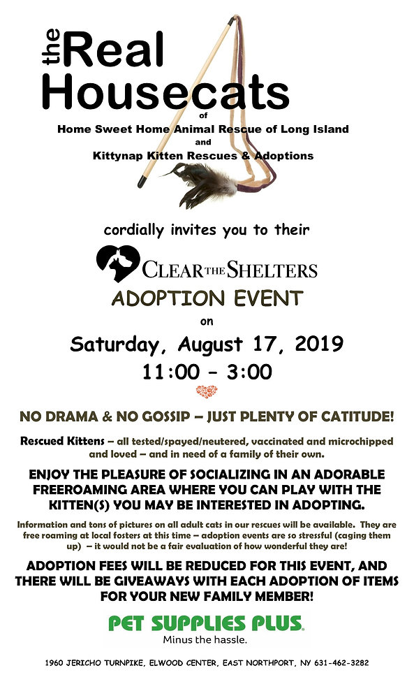 Clear the Shelters Adoption Event 8.17.1