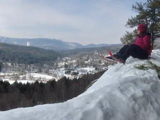 Snowshoeing Wu Ledges