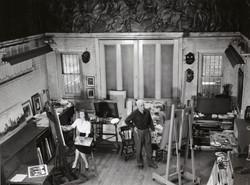 Virginia & Adolf Dehn in the studio