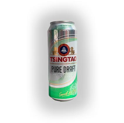 Cerveza Tsingtao Pure Draft Lata 500cc