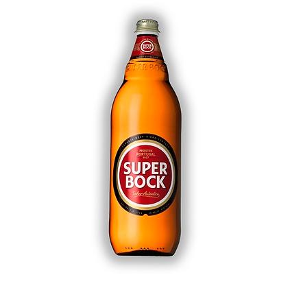 Caja x6 uni. Cerveza Super Bock Bot. 1L