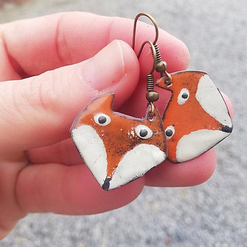 Foxy Enamel Earrings