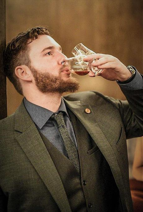 Drinking Whisky Glencairn Glass