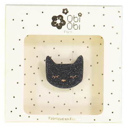 Broche chat noir