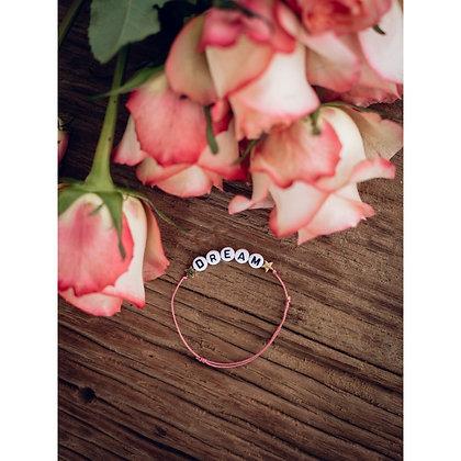Bracelet Dream rose étoiles