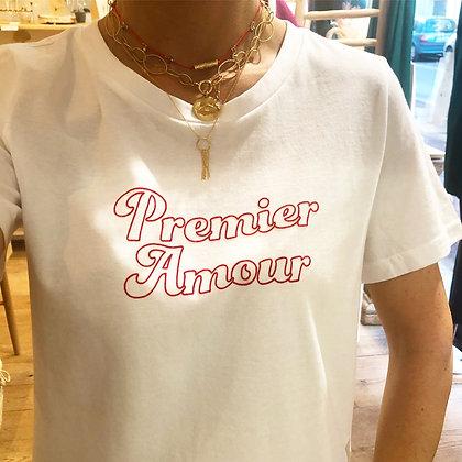 "Tee-shirt ""Premier Amour"" blanc"