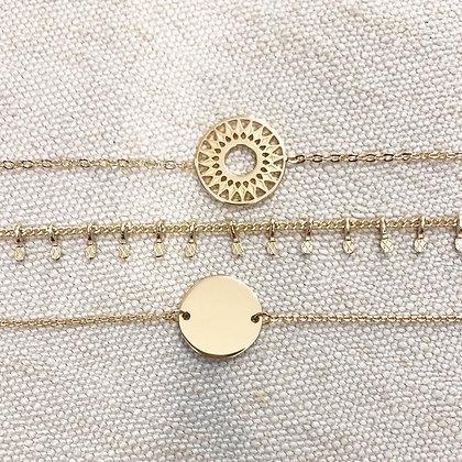 Bracelets chaîne plaqué or