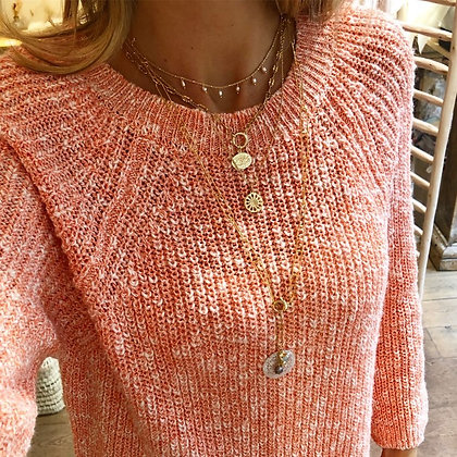 Pull Pamplemousse coton
