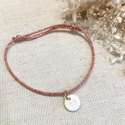 Bracelet céramique coeur