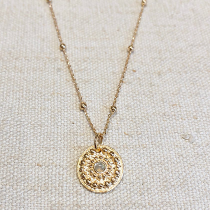 Collier long Rose