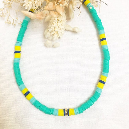 Collier surfeur green/yellow