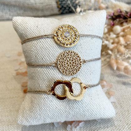 Bracelets lien plaqué or