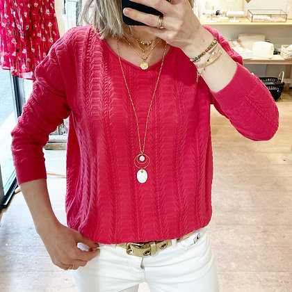 Pull Milou rouge