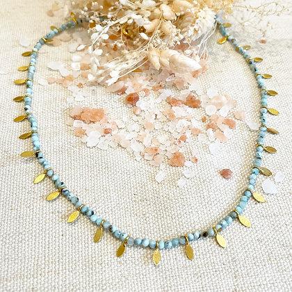 Collier Indiana aquamarine