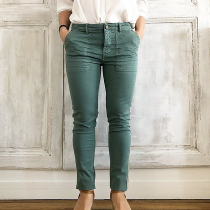 Jeans poches vert