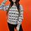 Thumbnail: Geometric 1990's Black & White Pullover Sweaters