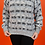 Thumbnail: Geometric 1990's Black & White Pullover Sweaters