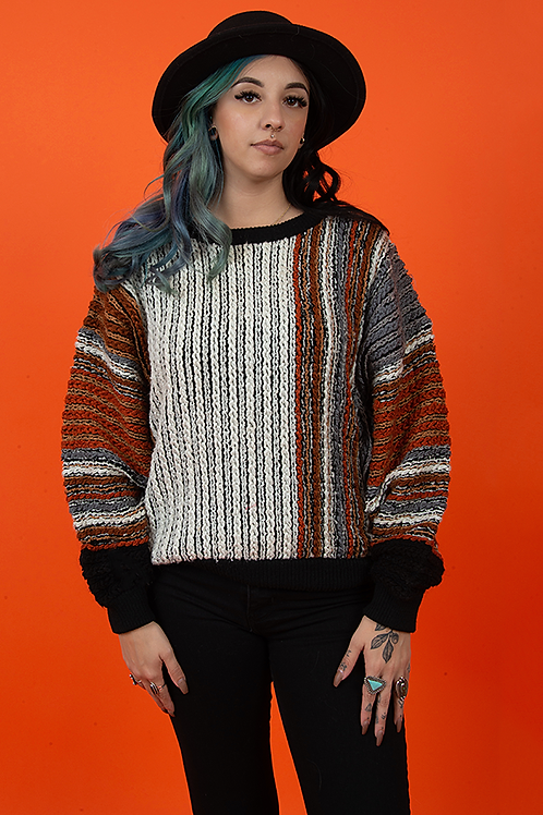 Coogi Style 1970's Cable Knit Sweater