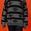 Thumbnail: 1980's Black & Grey Bohemian Printed Knit Sweater